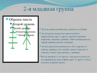 2-я младшая группа Ветки можно изобразить двумя способами: -ветки располагают