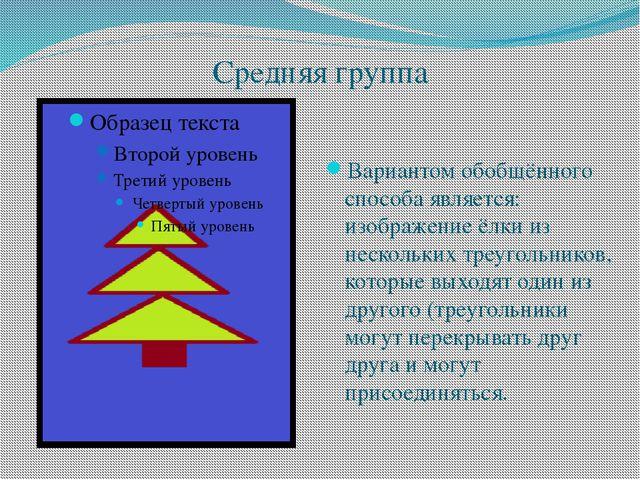 Средняя группа Вариантом обобщённого способа является: изображение ёлки из не...