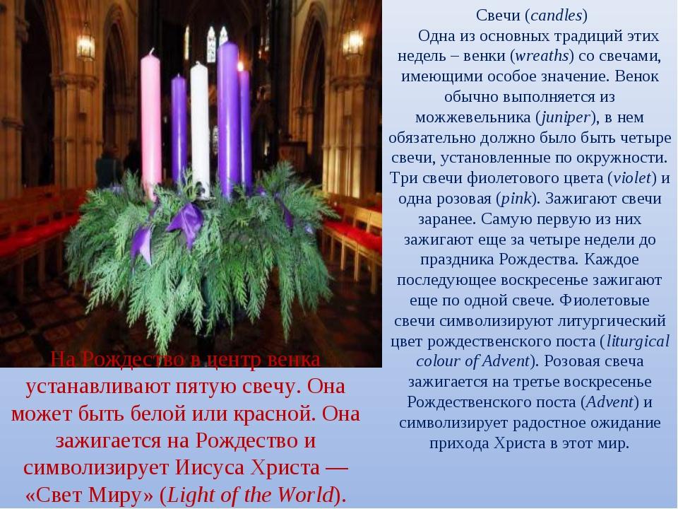 Свечи ...