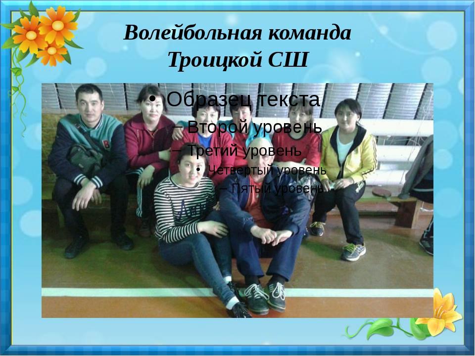 Волейбольная команда Троицкой СШ