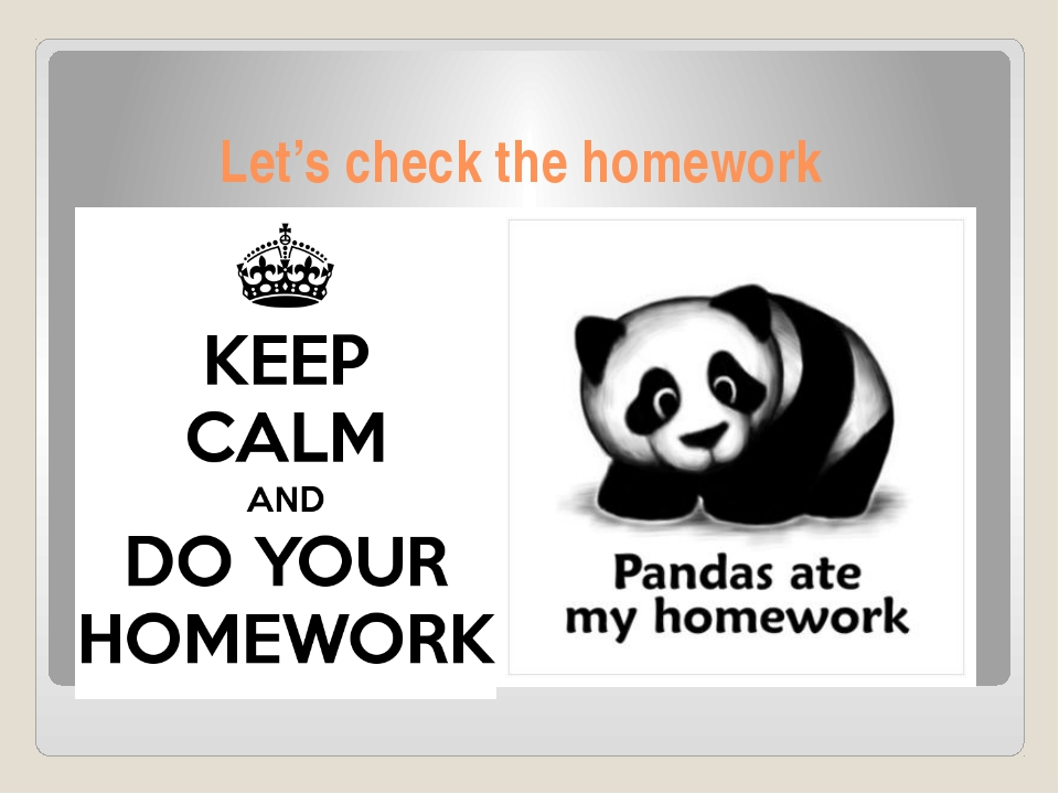 Let's check the homework
