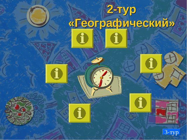 2-тур «Географический» 3-тур