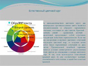 Естественный цветовой круг На двенадцатичастном цветовом круге два диаметрал