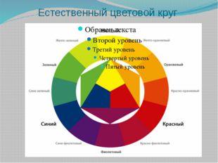 Естественный цветовой круг