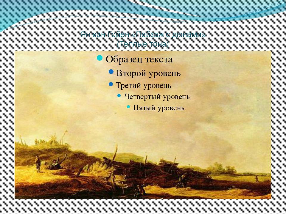 Ян ван Гойен «Пейзаж с дюнами» (Теплые тона)