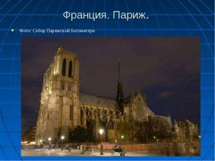 Франция. Париж. Фото: Собор Парижской Богоматери