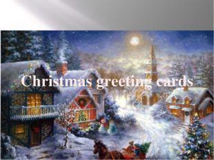 Christmas greeting cards. Christmas greeting cards