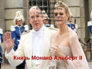 Князь Монако Альберт II