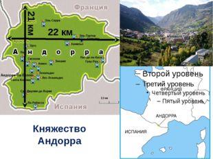 Княжество Андорра 22 км 21 км