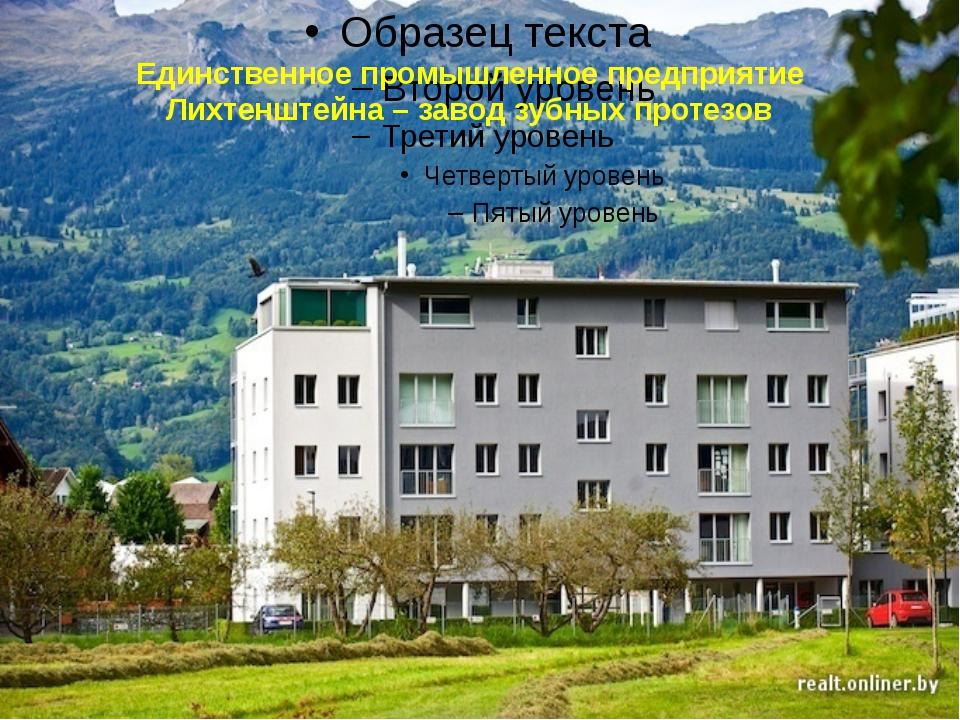 Единственное промышленное предприятие Лихтенштейна – завод зубных протезов