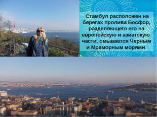 Стамбул расположен на берегахпроливаБосфор, разделяющего его на европейску