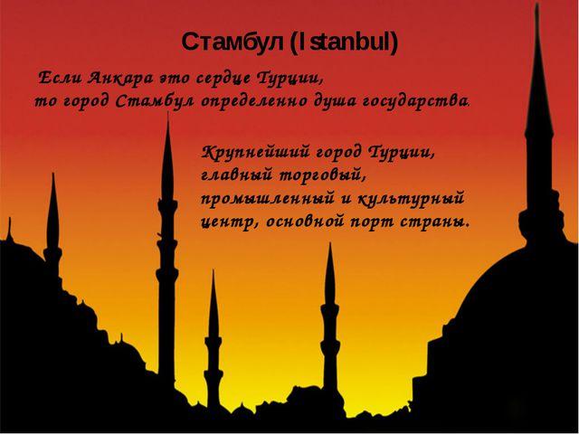 Если Анкара это сердце Турции, то городСтамбулопределенно душа государства...