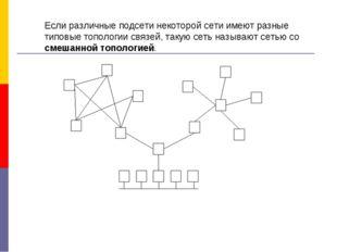 Если различные подсети некоторой сети имеют разные типовые топологии связей,