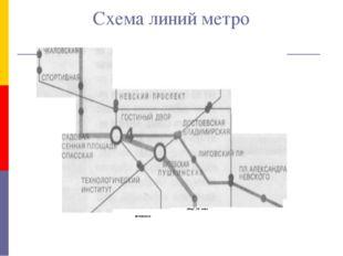 Схема линий метро ФРУНЗЕНСКАЯ обвод! )1й канал