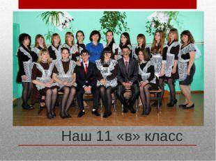 Наш 11 «в» класс