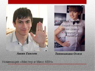 Номинация «Мистер и Мисс КВН»