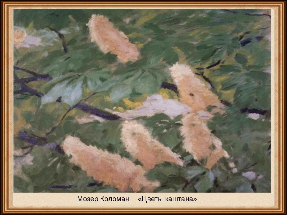 Мозер Коломан. «Цветыкаштана»
