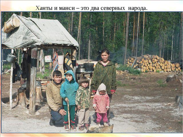 Ханты и манси – это два северных народа.