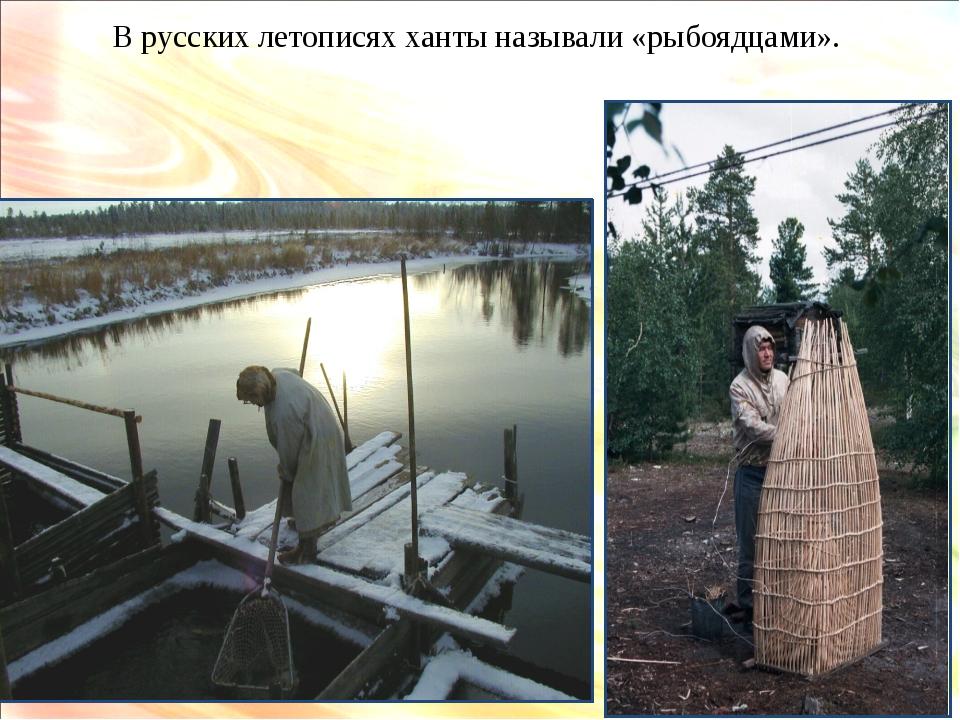 В русских летописях ханты называли «рыбоядцами».