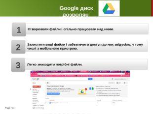 Google диск дозволяє Захистити ваші файли і забезпечити доступ до них звідусі