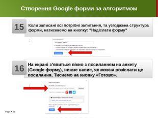 Створення Google форми за алгоритмом З'явиться готова до заповнення Google фо