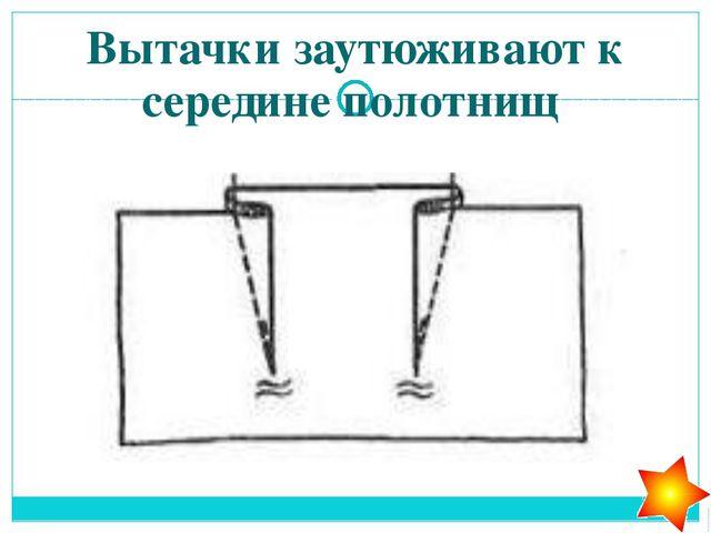 Срезы деталей прямой юбки 1. Боковой, нижний, пройма 2. Боковой, нижний,верхн...