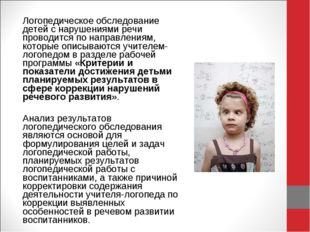 Логопедическое обследование детей с нарушениями речи проводится по направлени