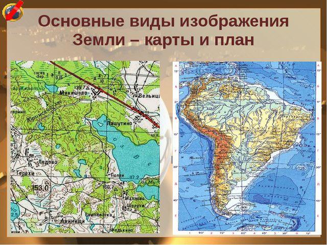 Основные виды изображения Земли – карты и план ПЛАН МЕСТНОСТИ - (лат. «планум...