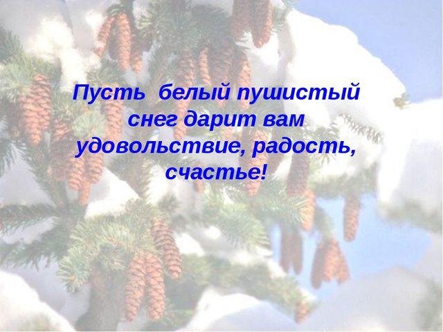 Пусть белый пушистый снег дарит вам удовольствие, радость, счастье!