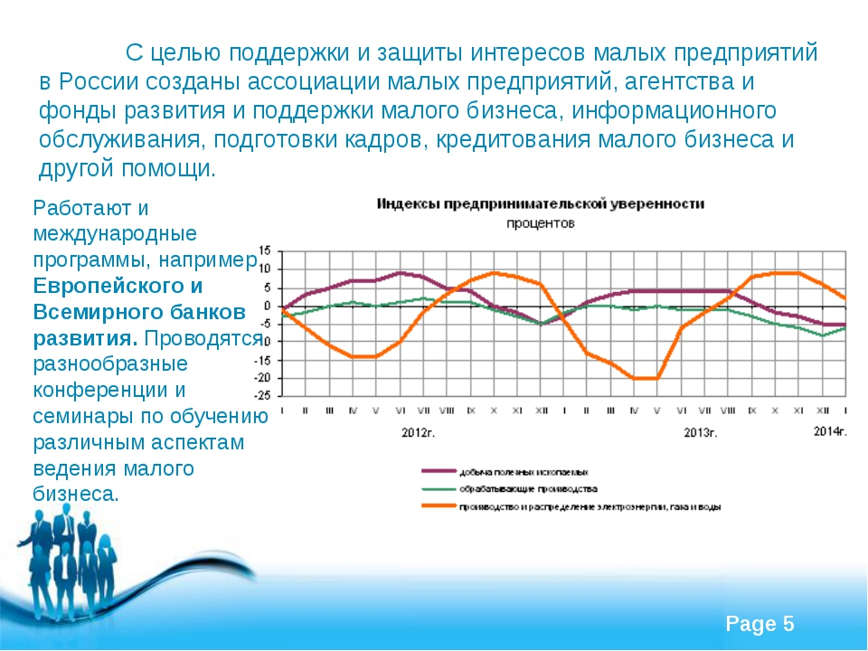 С целью поддержки и защиты интересов малых предприятий в России созданы ассо...