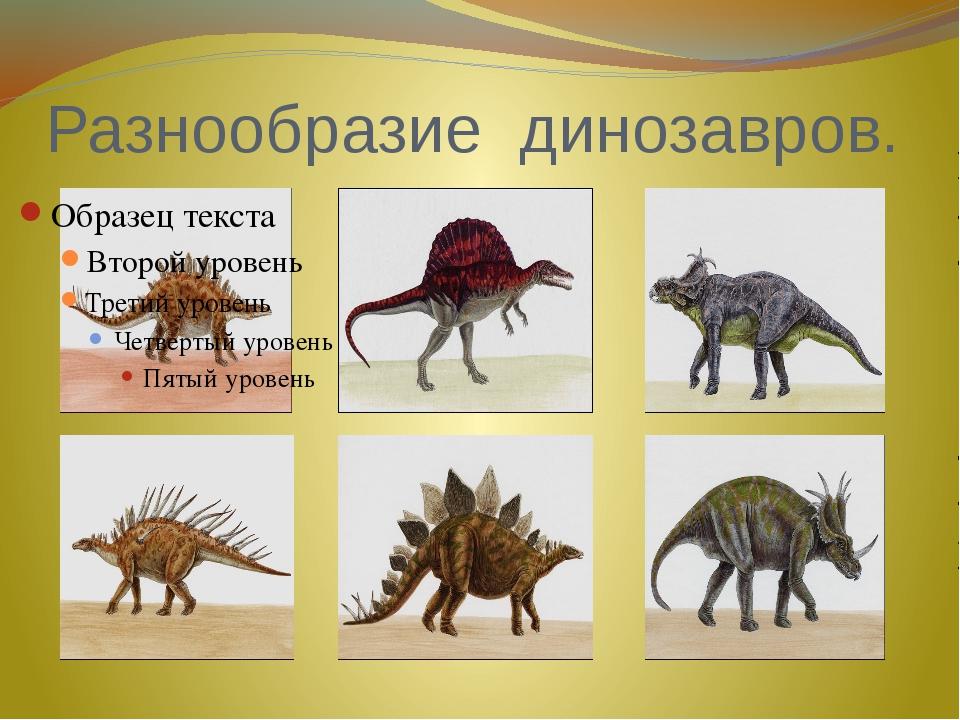 Разнообразие динозавров.
