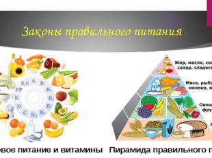 Законы правильного питания Здоровое питание и витамины Пирамида правильного п