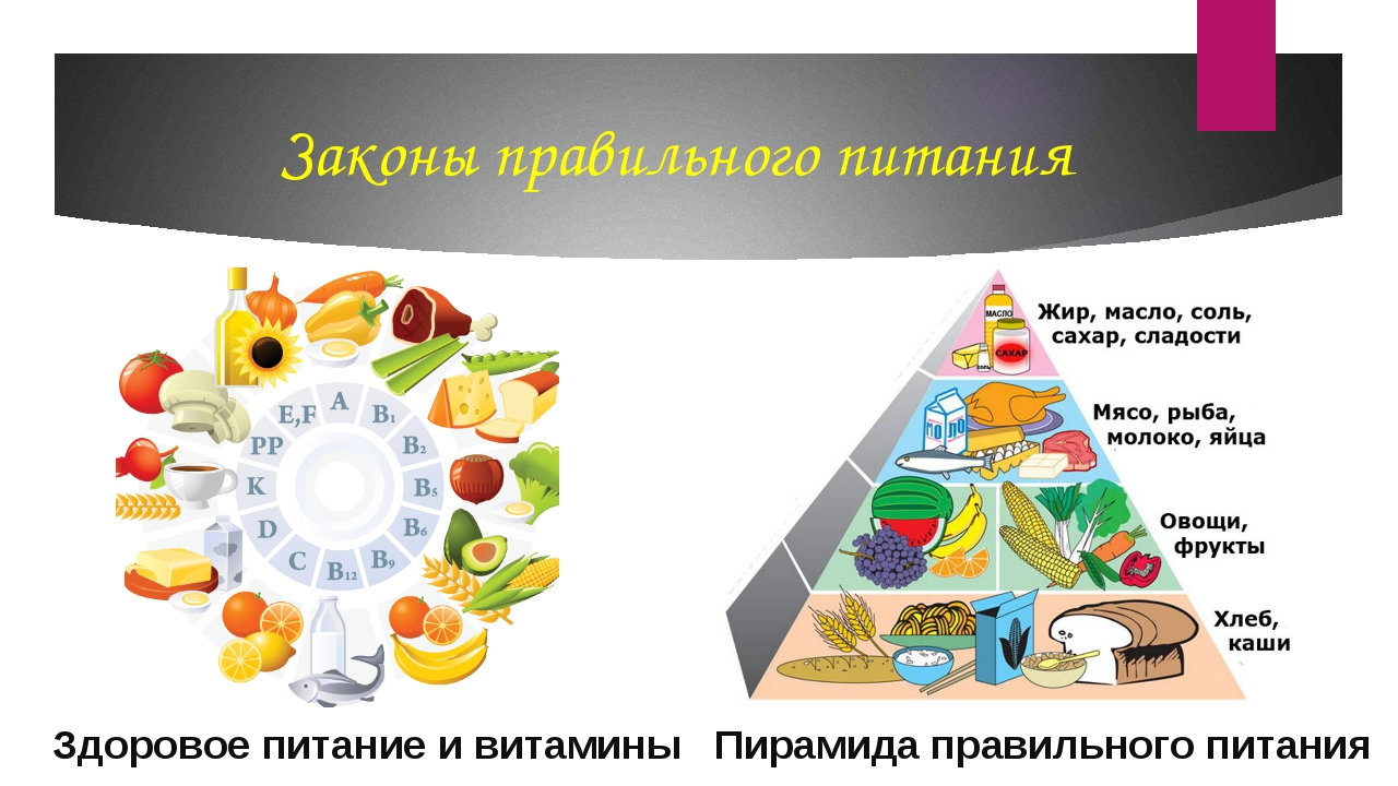 Законы правильного питания Здоровое питание и витамины Пирамида правильного п...