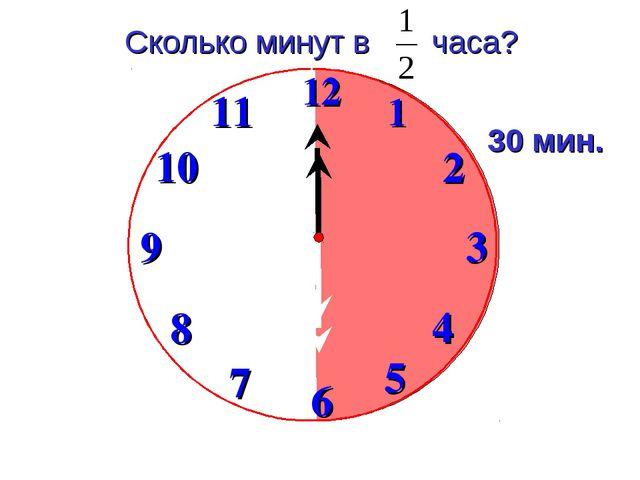 Сколько минут в часа? 30 мин.