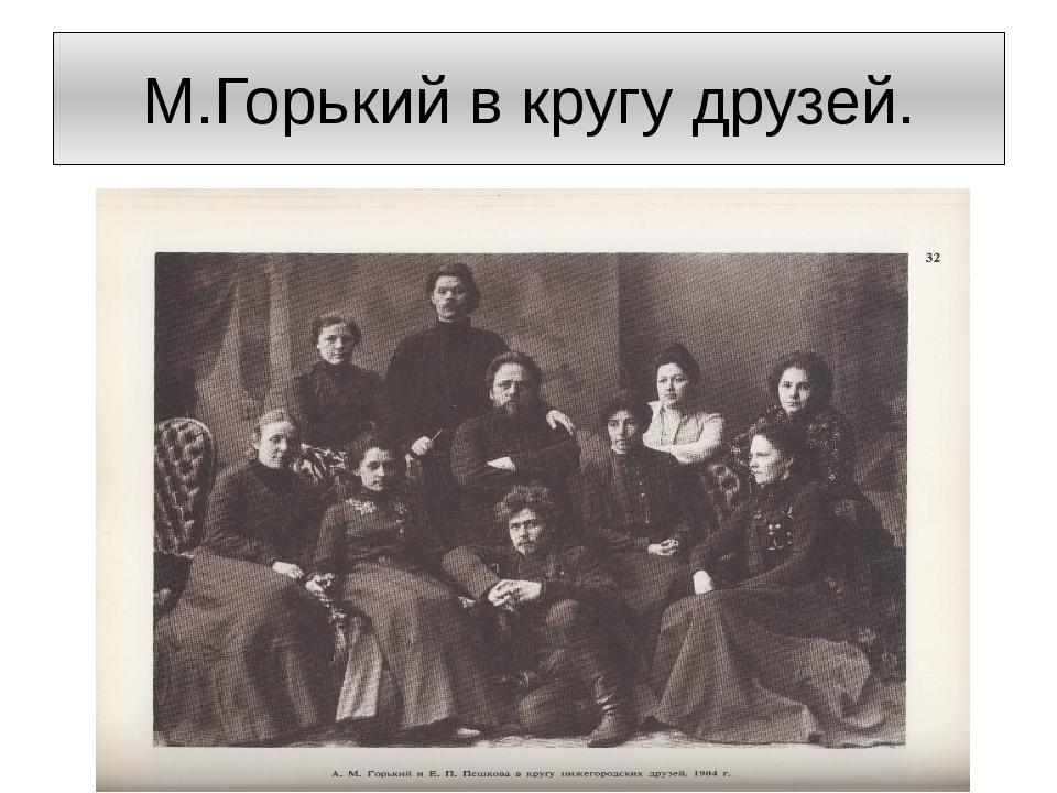 М.Горький в кругу друзей.