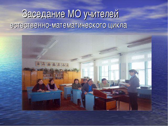 Заседание МО учителей естественно-математического цикла