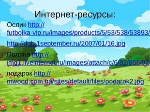 Интернет-ресурсы: Ослик http://futbolka-vip.ru/images/products/5/53/538/53893