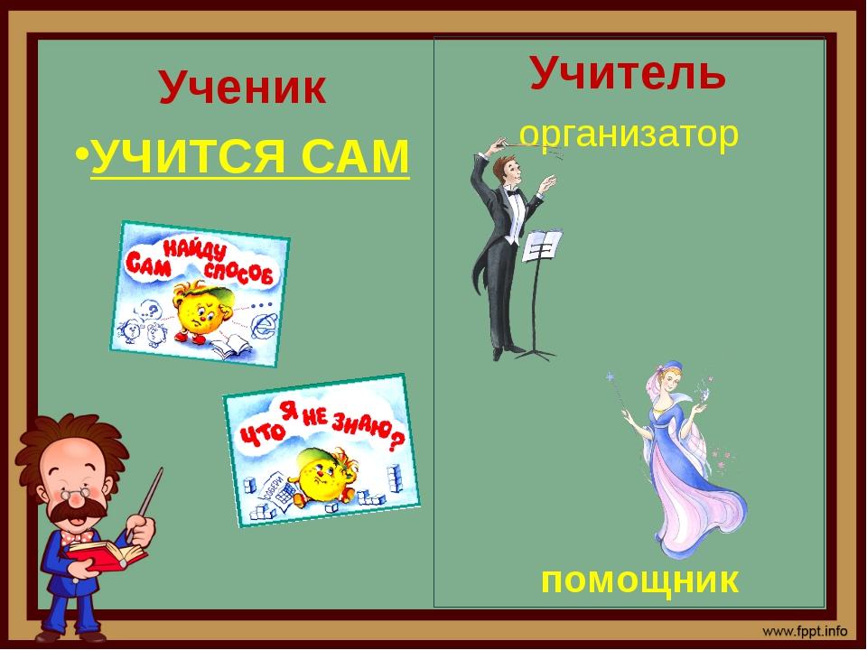 Ученик УЧИТСЯ САМ Учитель организатор помощник