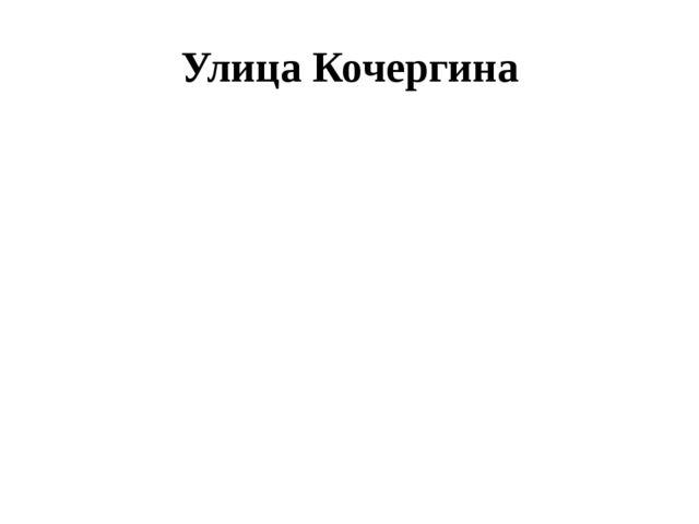 Улица Кочергина
