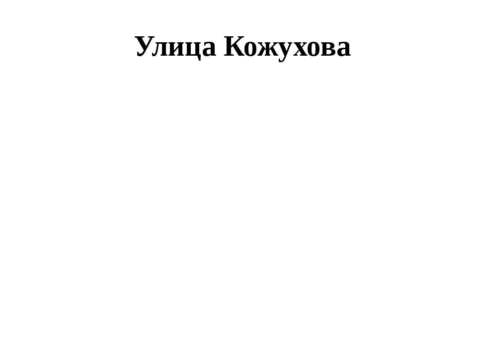 Улица Кожухова