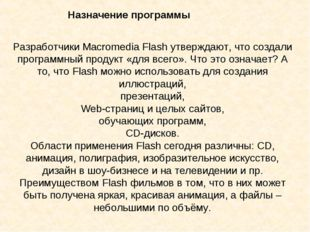 Разработчики Macromedia Flash утверждают, что создали программный продукт «д