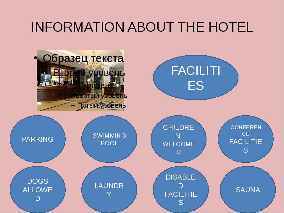 FACILITIES INFORMATION ABOUT THE HOTEL PARKING DOGS ALLOWED LAUNDRY SWIMMING...
