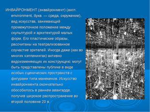ИНВАЙРОНМЕНТ (энвайронмент) (англ. environment, букв. — среда, окружение), ви