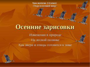 Осенние зарисовки Изменения в природе На лесной полянке Как звери и птицы гот