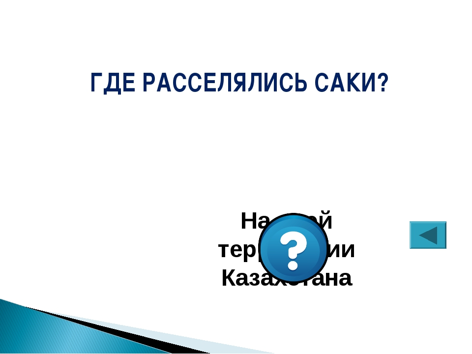 ГДЕ РАССЕЛЯЛИСЬ САКИ? На всей территории Казахстана