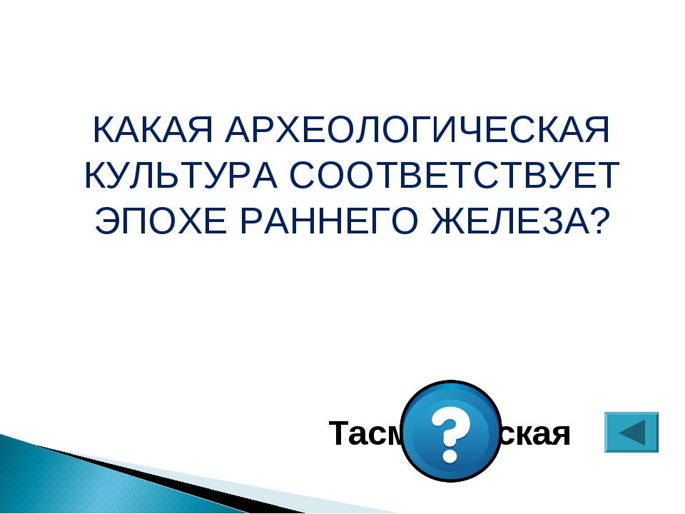 КАКАЯ АРХЕОЛОГИЧЕСКАЯ КУЛЬТУРА СООТВЕТСТВУЕТ ЭПОХЕ РАННЕГО ЖЕЛЕЗА? Тасмолинская