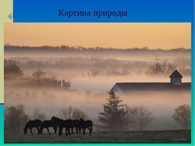 Картина природы