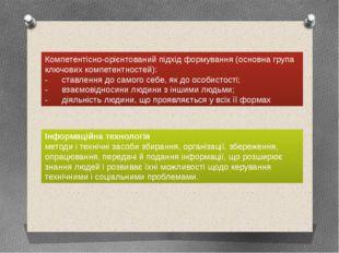 Компетентісно-орієнтований підхід формування (основна група ключових компетен
