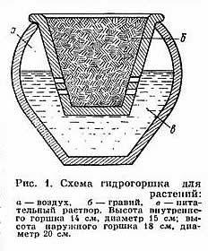 Схема сосуда для гидропоники