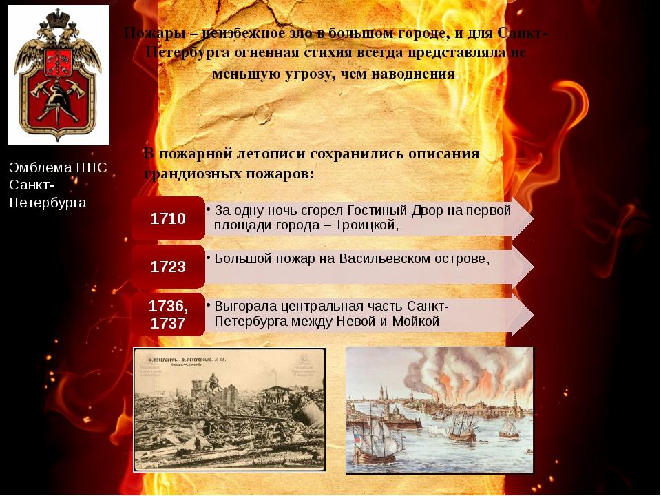 Пожары – неизбежное зло в большом городе, и для Санкт-Петербурга огненная сти...